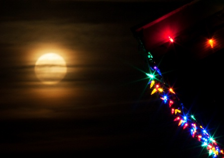 Christmas Lights at Supermoon Time