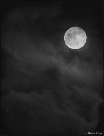 Super Moon and Clouds