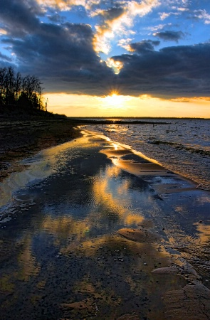 Mud, Water And Sunset