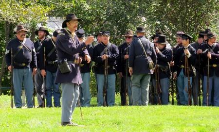 Muster At  Civil War Reenactment