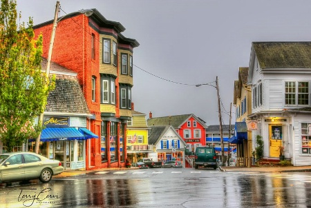 Rainy Boothbay Harbor