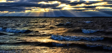 Rays And Rough Water