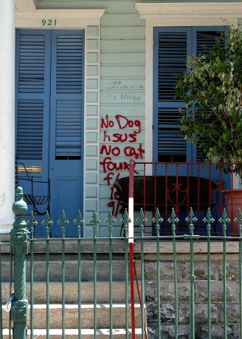 Marked During Hurricane Katrina