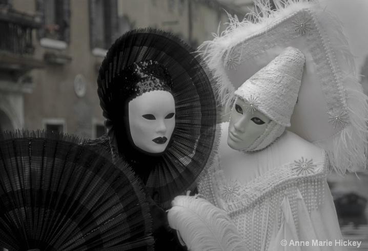 Venice Carnival in Black and White