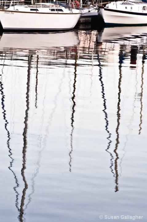 Boat Mast Reflections