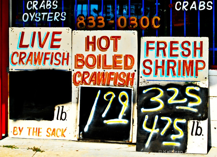New Orleans Seafood Store Signs