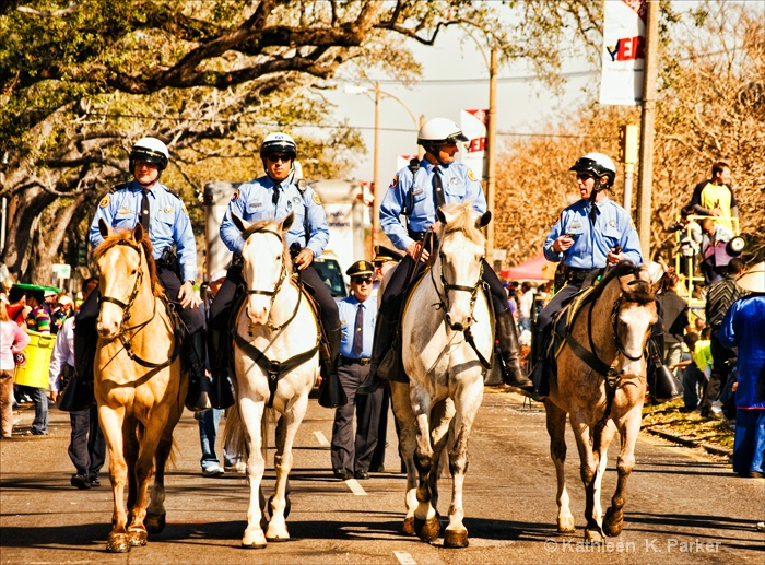New Orleans Police at Rex Parade