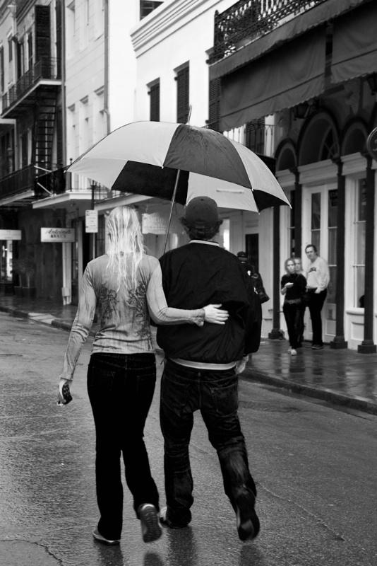 Rainy Day Walk, New Orleans