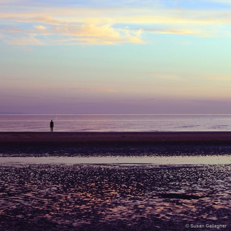 Beach stroll at dusk
