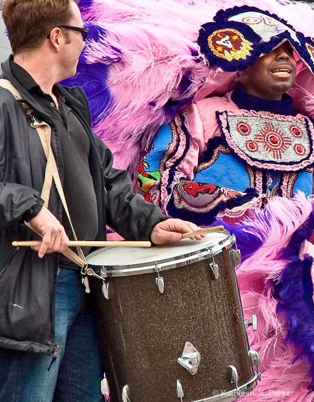 Mardi Gras Indian, New Orleans 2011