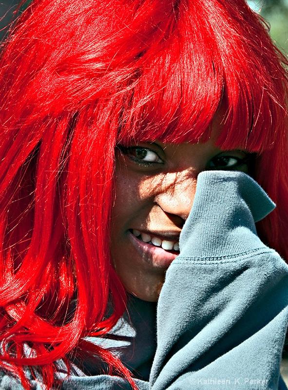 Shy at Mardi Gras