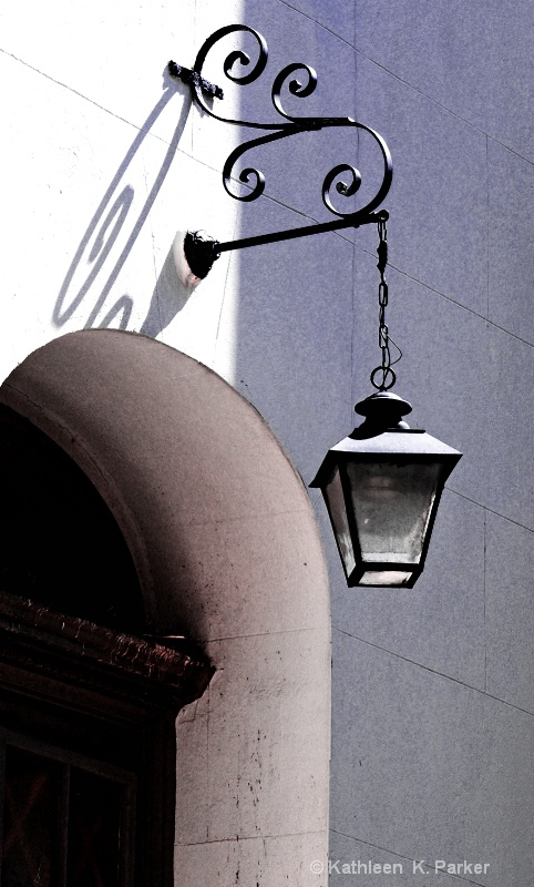 Lamp and Alcove, St. Louis Cathedral, New Orleans