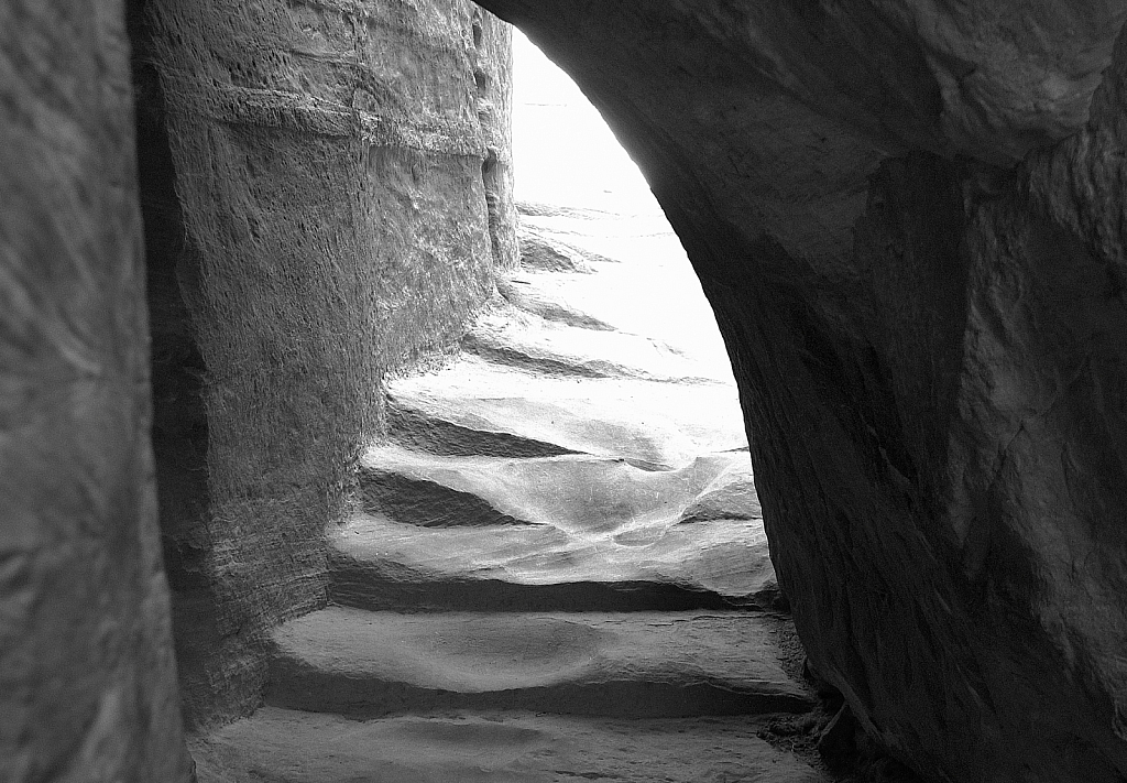 Entrance or Exit in BW  Petra