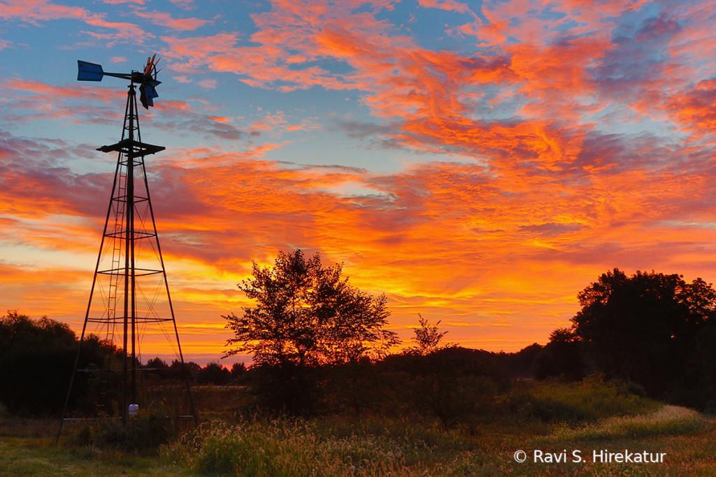 Sunrise on a Farm