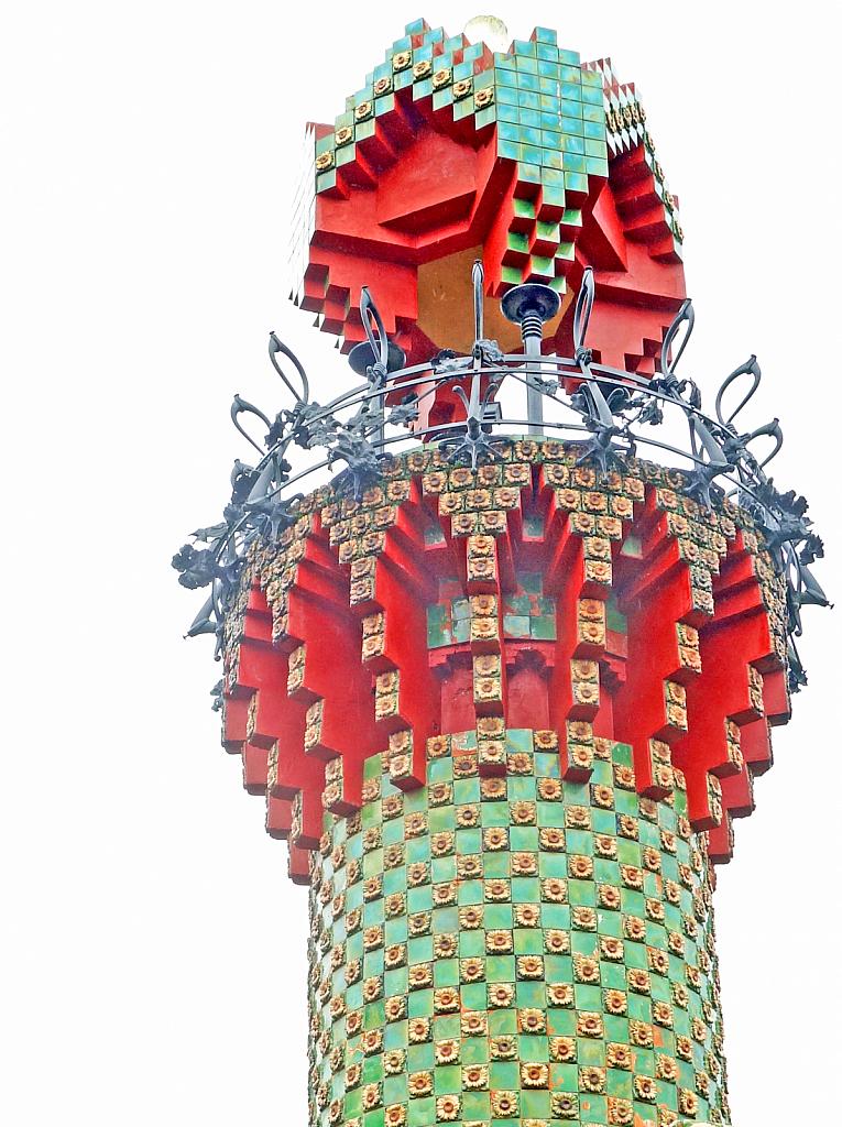 Tower of the Caprichio de Gaudi mansion.