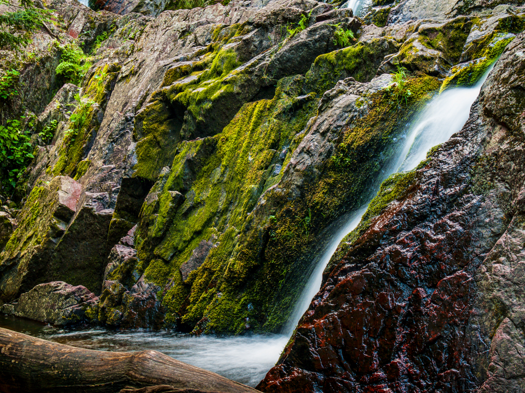 Rocks, Moss, and Falls