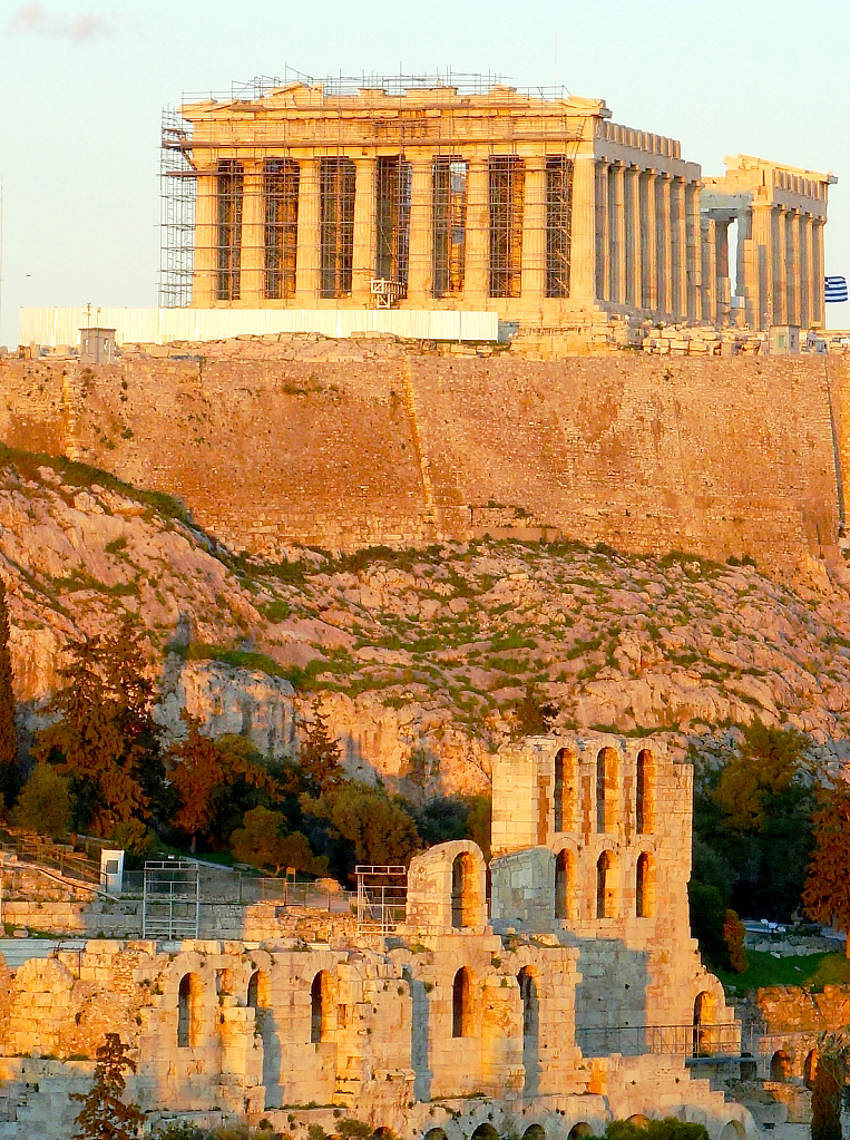 The Parthenon in the warm afternoon light!