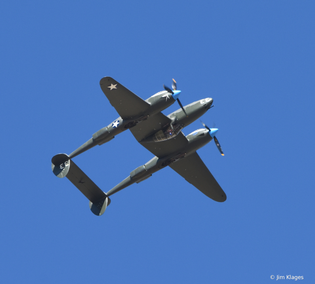 P-38 going inverted