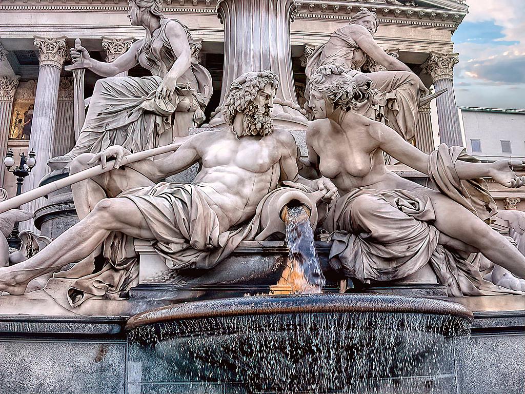 Athena Fountain Detail