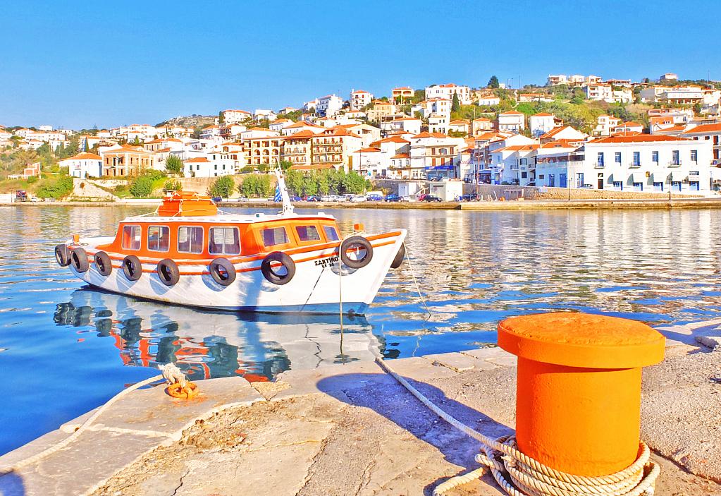 Pylos town. Southern Greece.