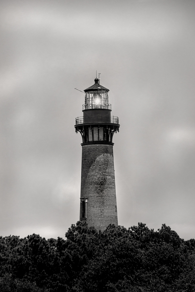 Currituck Lighthouse in Black and White