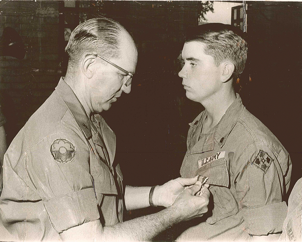 General Kenndall Awarding my 1st ARCOM