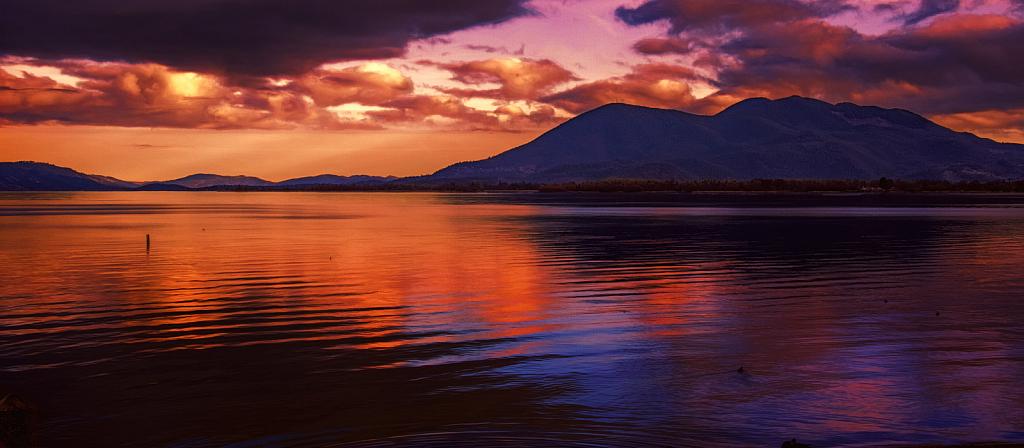 Simulated sunset.