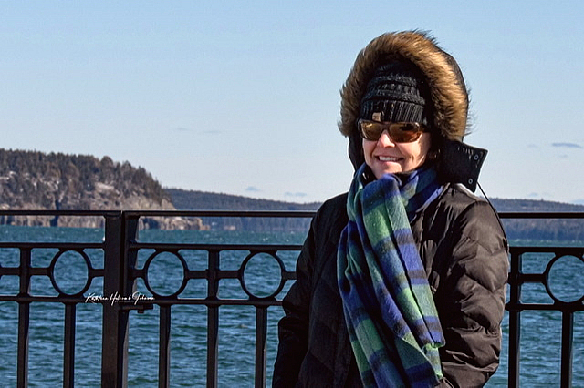 Bar Harbor Pier and Daughter - Dear!