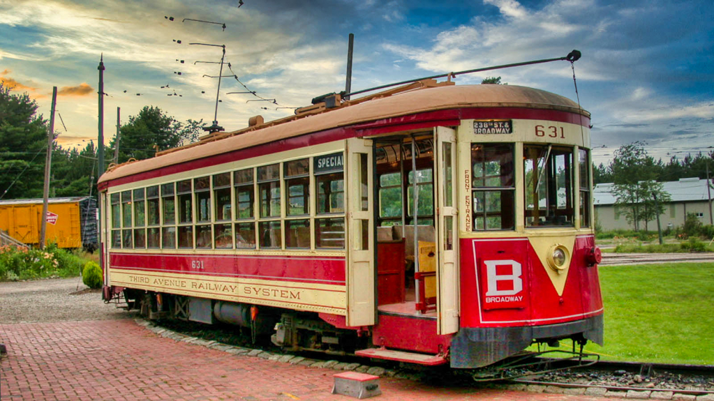 At the Trolley Museum