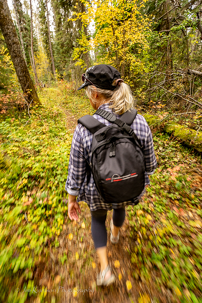 Hiking to Grey Owl's Cabin
