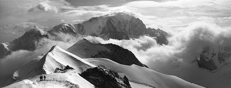 Mont Blanc from the Domes de Miage