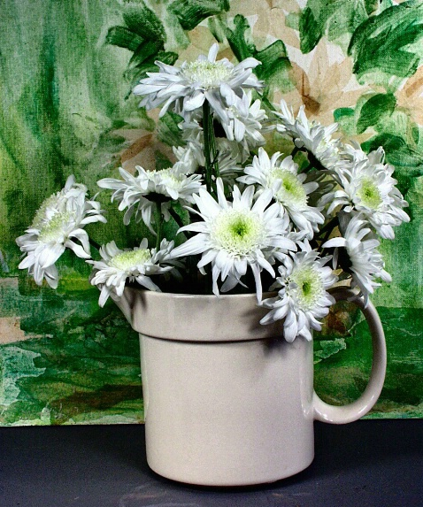 A Painting and a Jug  of Daisies
