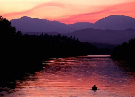 Sacramento River at Dusk