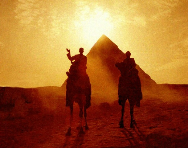Sandstorm at the Pyramids, Cairo, Egypt