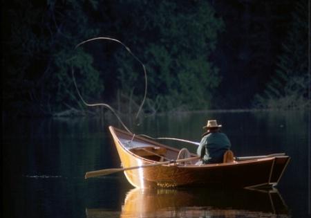 Fly-fishing, Mary Lake, WA