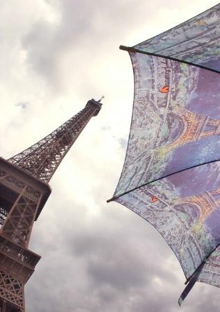 Eiffel Tower and umbrella