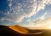 Sunrise over dune...