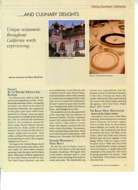 Dining Column-California Tour and Travel - ID: 2365197 © Mary B. McGrath