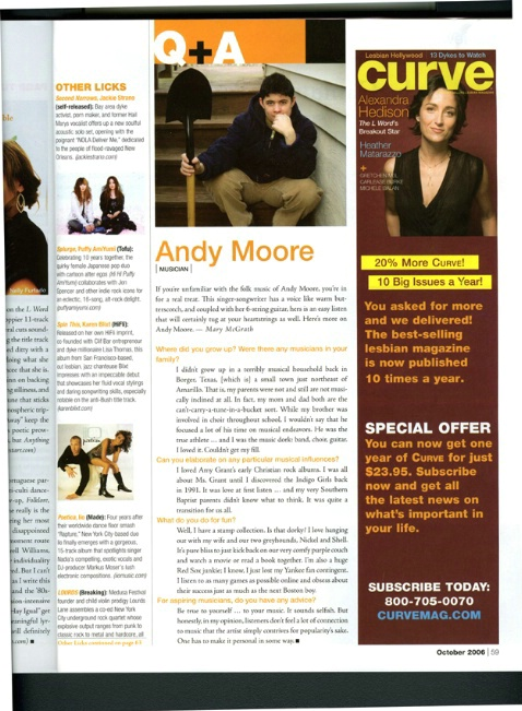 Interview with singer/songwriterAndy Moore - ID: 2709150 © Mary B. McGrath