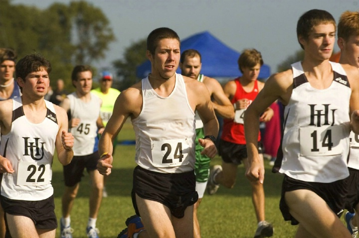 Nick running cross country for HU