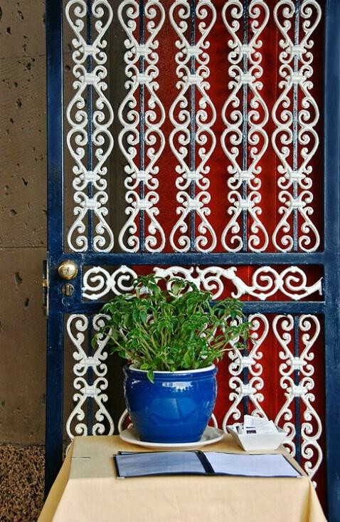 """""""Restaurant Door, NYC"""" - ID: 4927101 © Gerda Grice"""