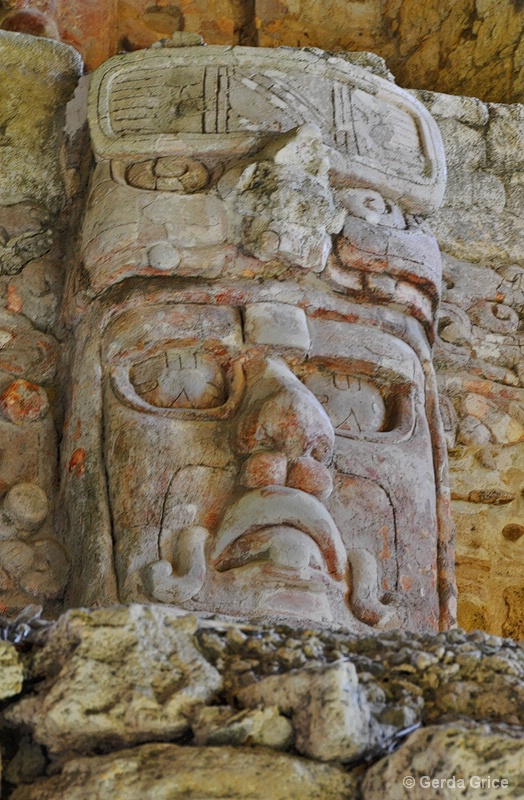 Mask in the Temple of the Masks, Kohunlich - ID: 8276440 © Gerda Grice