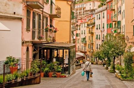 A Colorful Street in Riomaggiore