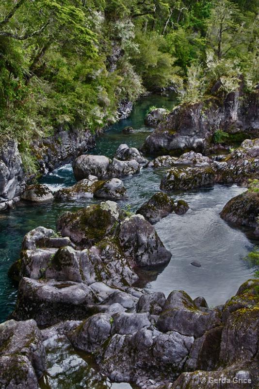 At the Foot of Petrohue Falls, Chile - ID: 13622918 © Gerda Grice