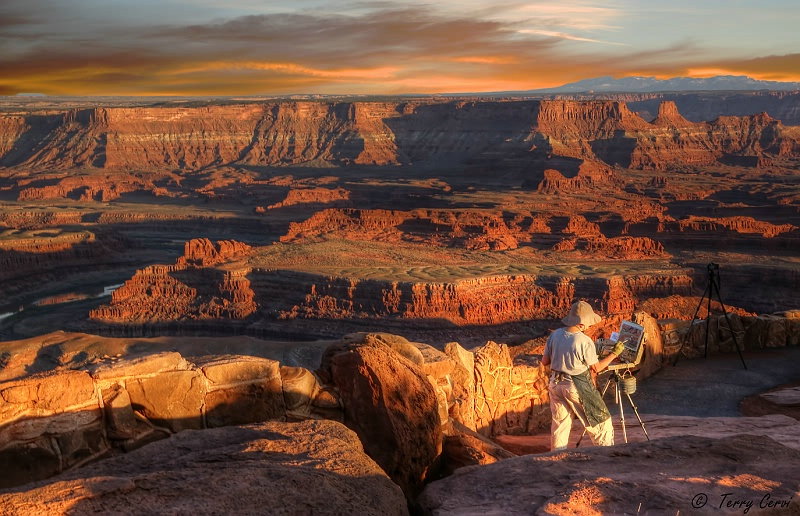 August 2015 Photo Contest Grand Prize Winner - Painting Dead Horse Point