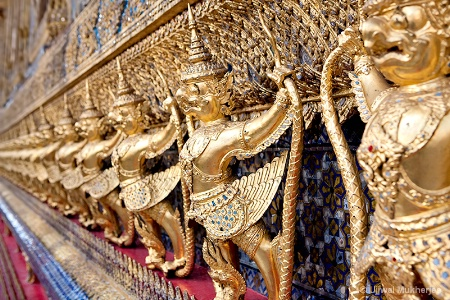 Golden Garuda Statues