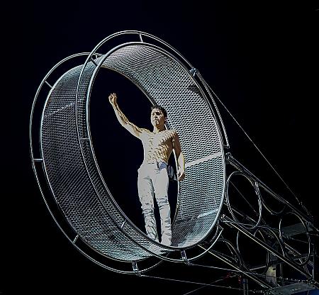 Man in an iron circle