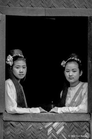 Two Burmese girls