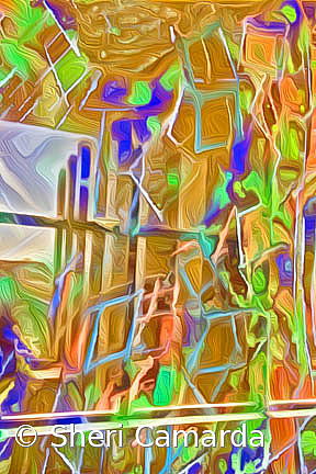 Painting & Window Reflection - ID: 15737307 © Sheri Camarda