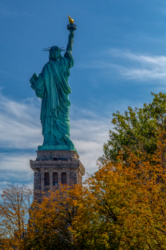 Autumn Trees And Lady Liberty